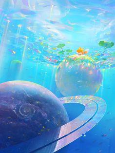 Fantasy Art Landscapes, Fantasy Landscape, Fantasy Artwork, Images Esthétiques, Beautiful Fantasy Art, Environment Concept Art, Scenery Wallpaper, Environmental Art, Anime Scenery