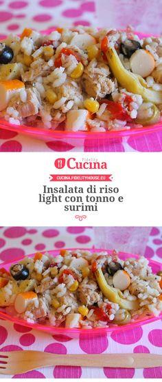 Insalata di #riso light con #tonno e #surimi della nostra utente Giovanna. Unisciti alla nostra Community ed invia le tue ricette!