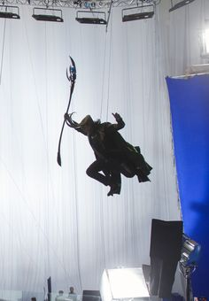 Tom getting his Loki on! That literally looks so much fun!!