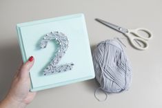 DIY wedding | how to make string art table numbers the easy way! #somethingturquoise
