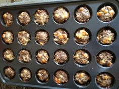 This recipe makes 24 meatballs. Nutritional value for each meatball:Cal 73 Fat 6gCarb .5gProt 5g