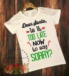 Funny Christmas Shirts #officechristmasparty #funnytshirts #dearsantaimsorry www.southernbreezenc.com