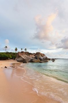 The Baths, British Virgin Islands.                   Large granite boulders line the coast at the southern tip of Virgin Gorda, forming shallow pools that make The Baths an ideal spot for swimming and snorkeling.