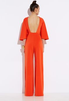Seiber Red Orange Backless Jumpsuit | oh my!!! Beaut