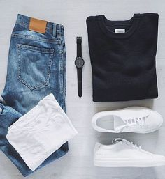 the latest trends in mens fashion and mens clothing styles Designer menswear is gaining more and more popularity with time and soon men will catch up with women both on the runway and on the. Cool Outfits For Men, Casual Outfits, Men Casual, Fashion Outfits, Stylish Men, Mens Attire, Lookbook, Mens Clothing Styles, Clothing Ideas
