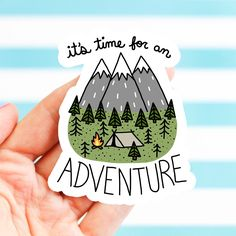 Adventure Sticker, Dad, Father's Day Gift, Bike Stickers, Nature, Bumper Stickers, Camping Sticker, Explore, Travel Sticker, Hiking Sticker by TurtlesSoup on Etsy https://www.etsy.com/listing/493356060/adventure-sticker-dad-fathers-day-gift