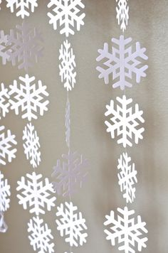 Snowflake Garland - extra large frozen snowflake banner, 10 feet long on Etsy, $11.00