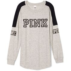 PINK ($33) ❤ liked on Polyvore featuring tops, sweaters, victoria secret pink tops and pink top