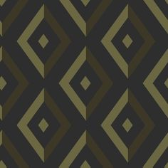 Diamond Gold / Black wallpaper by Wedgwood Home