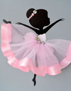 Ballerina nursery wall art. Pink and grey ballerina от FlorasShop