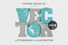 VectorPress: Illustrator Letterpress by Vintage Design Co. on @creativemarket