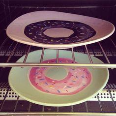 Donut plates by lousongmade