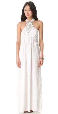 susana monaco white maxi dress