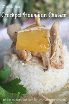 Perfect recipe for crockpot Hawaiian Chicken for Back to School Dinners!