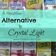Great ideas for ways to get your daily water in, and a healthier alternative to Crystal Light (doesn't have sucralose in it)!