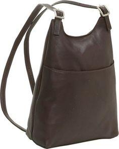 Le Donne Leather Women's Sling BackPack Purse Café - via eBags.com!