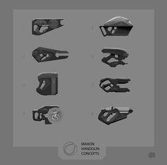 ArtStation - Maxon science fiction gun, Adam Shepherd