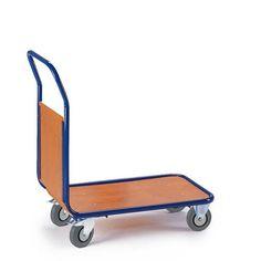 GTARDO.DE:  Magazinwagen - Stirnwand, Tragkraft 400 kg, Ladefläche 1000x700 mm, Maße 1120x700 mm, Rad-Ø 200 mm 182,00 €