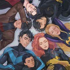 Tim Drake, Cassandra Cain,  Jason Todd, Stephanie Brown, Barbara Gordon, Dick Grayson, Damian Wayne - The Bat Family