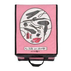 Boite de rangement Accessoires cheveux rose Derrière La Porte DLP - Boite produits de beauté/Brosses & accessoires à cheveux - espritlogis-f...