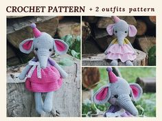 Crochet Amigurumi Pattern Elephant Wendy Pattern Elephant Baby