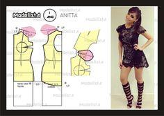 Modelagem vestido Anitta. Fonte: https://www.facebook.com/photo.php?fbid=558116400890936=a.426468314055746.87238.422942631074981=1