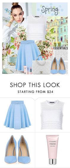 """""""Something Lovely"""" by polybaby ❤ liked on Polyvore featuring WithChic, Thakoon, Chanel, Giuseppe Zanotti, By Terry and Sephora Collection"""