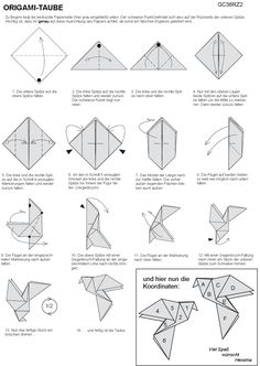 Origami Bird Not In English But Good Diagrams
