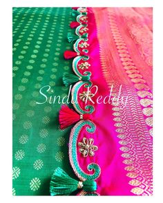 Saree Kuchu Designs, Saree Tassels, Work Sarees, Hand Embroidery, Label, Instagram, Fashion, Moda, Fashion Styles