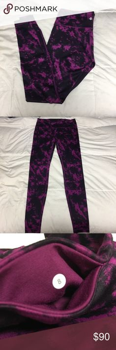2f3b0c305e Lululemon Wunder Under Pant Shibori Magenta Size 8 Barely worn, perfect  condition! Color is