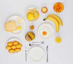Monochrome Breakfast par Fabienne Plangger : Petit Déjeuner par Couleur (photos)