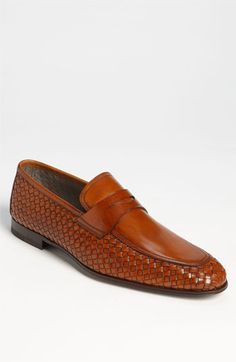 Magnanni 'Oliver' Woven Penny Loafer (Online Only) available at #Nordstrom
