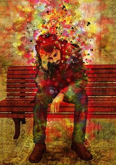 Confusion often goes along with despair. As does no motivation, isolation and loneness. Art by Luis Alves