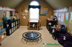 How to Set up a Homeschool Classroom - Come take a tour of our homeschool classroom and how I incorporate Montessori-inspired stations throughout! Preschool Rooms, Preschool At Home, Preschool Plans, Preschool Crafts, Home Learning, Learning Spaces, Learning Stations, Home Daycare, Home School Room Ideas