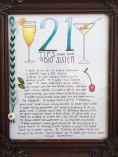 21st birthday homemade gift for little sister <3 by Elly Brinkerhoff #homemadegiftforsister
