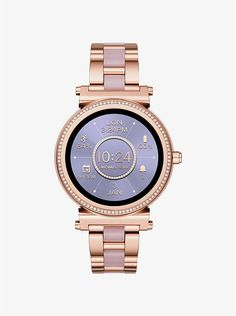 a6ad41d7be2 Michael Kors Sofie Pave Rose Gold-Tone and Acetate Smartwatch