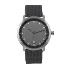 Stainless Steel Round Watches Charcoal muji