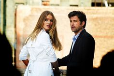 "Rosie Huntington-Whiteley & Patrick Dempsey in ""Transformers: Dark of the Moon"" 2011 Paramount Pictures"