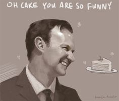 Mycroft certainly loves his cake...
