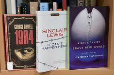 Time to move these to the non-fiction shelf. Sinclair Lewis, Trump Wall, Instagram Accounts, Instagram Posts, Brave New World, George Orwell, Nonfiction, Shelf, America