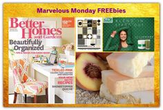FOUR FREEbies:  Annual Subscription to Better Homes & Gardens Magazine, New Year's Eve Planner Printable, Handmade Peach Soap and AdvoGreens Green Powder!