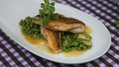 BBC One - My Life on a Plate - Gurnard fillets on a bed on fresh peas