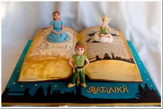 Magical Peter Pan Book Cake made by Candymaniac