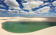 piscinas-naturais-deslumbrantes-no-brasil-8-lencois-maranhenses Piscinas naturais deslumbrantes no Brasil que você precisa conhecer Paraiba, Brazil, Golf Courses, To Go, City, Instagram, Beach, Water, Places