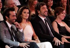 Javier Bardem sat with Penélope Cruz at the Goya Awards in February 2010 in Madrid