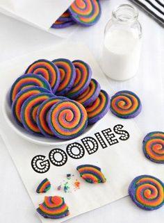 Regenbogen Swirl Cookies