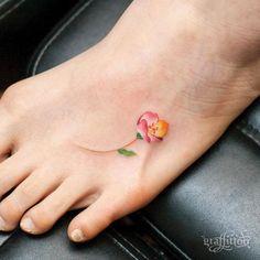 Small Lotus Flower Tattoo Foot ...