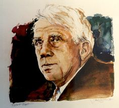 watercolor of Robert Frost by Jack Coughlin available at the R. Michelson Galleries