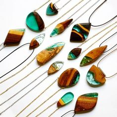 Instagram media by brittaboldb - I hope you all had a lovely time over Christmas and New Year's. I took some time off to focus on new ideas and to recover a little from a very busy and wonderful 2015. These pieces are now on BoldB.etsy.com #wood #wooden #woodenjewellery #woodjewellery #green #resinwood #woodresin