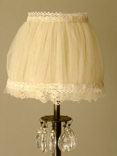 Tulle lamp shade by Ryutan on Etsy, €45.00